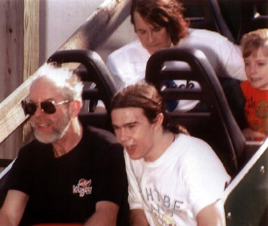 Wells Family at Cedar Point, July, 1998